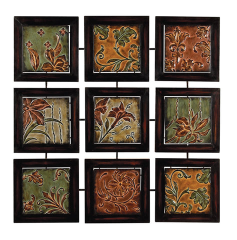 Leaves and Daylilies Metal Wall Decor