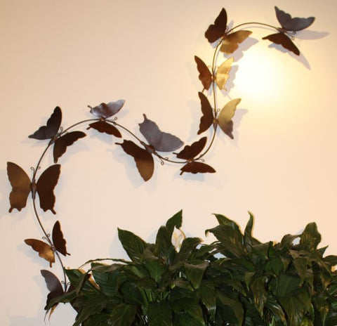 Butterfly Trail Handcrafted Metal Wall Sculpture