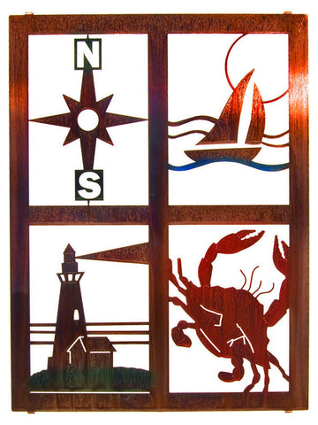 Nautical Icons Metal Wall Art