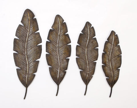 Collection of Feathers Metal Wall Art