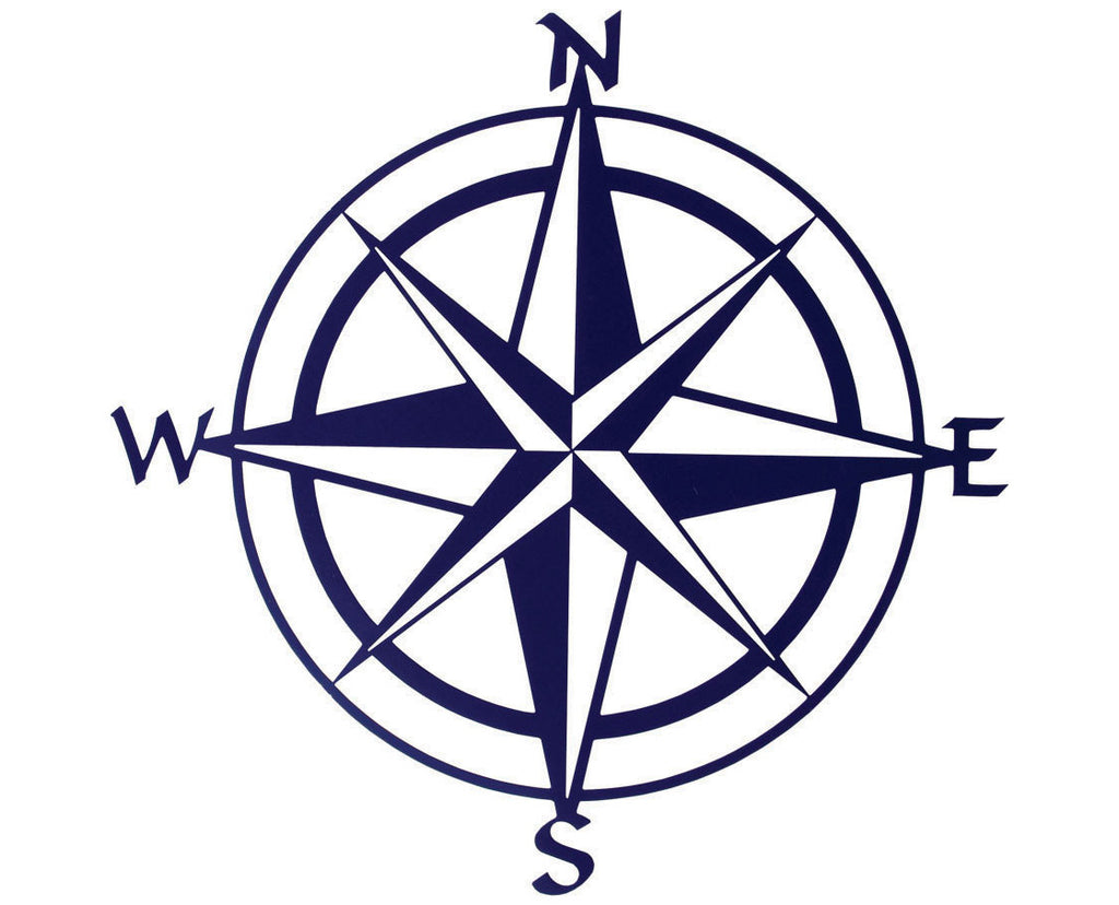 Nautical Compass Metal Wall Sculpture