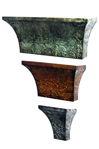 Artistic Cornices Metal Wall Sculpture Set of 3
