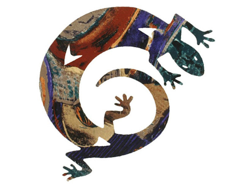 Fantastical Lizard Metal Wall Hanging