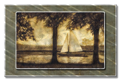 Main and Jib Sailboat Art