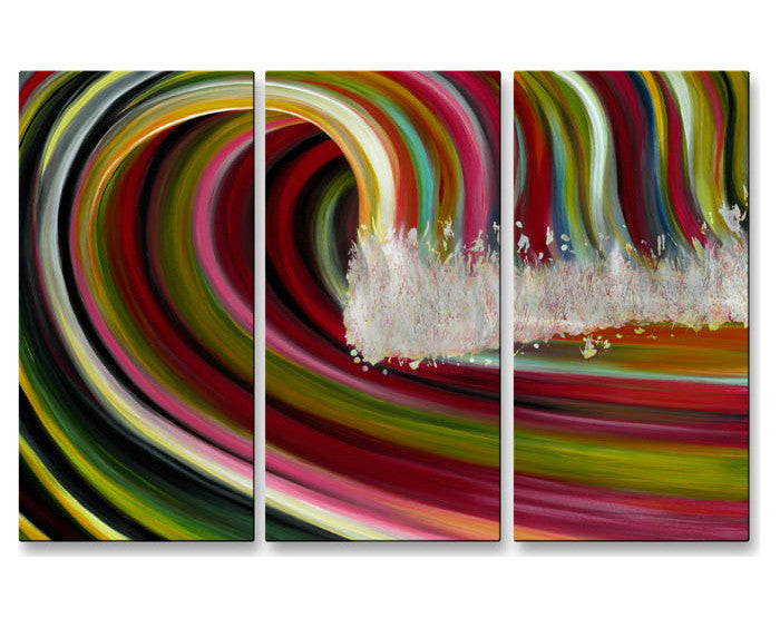 Rainbow Waves Metal Wall Art
