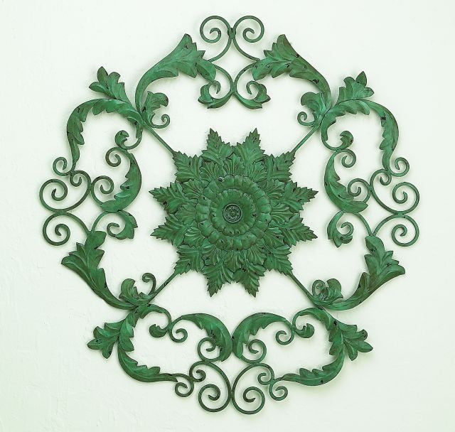 "37"" Garden Desire Iron Handmade Wall Sculpture"