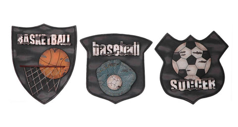 Favorite Ball Games Wall Plaques Set of 2