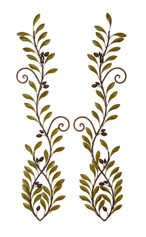Scrolling Tendrils Leaf Wall Art Set of 2