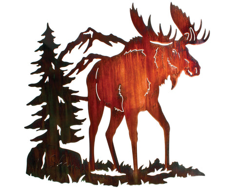 Moose Trail Metal Wall Art Hanging