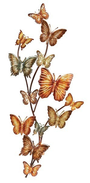 Butterflies on a Branch Metal Wall Hanging