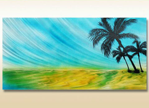 Rainbow Tropics Metal Wall Art