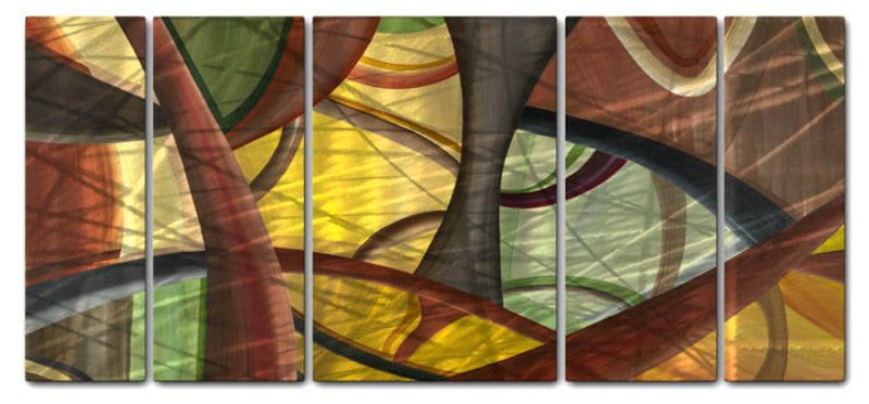 Molecular Level Abstract Panel Art
