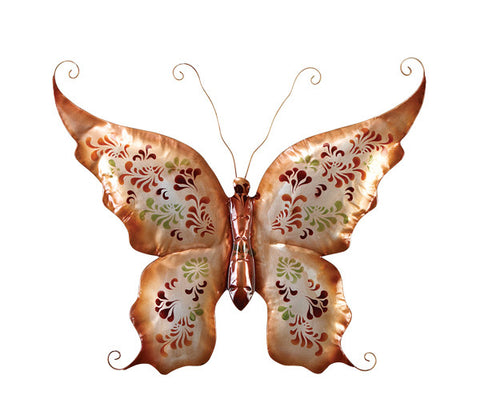 Gilded Wings Butterfly Metal Wall Hanging