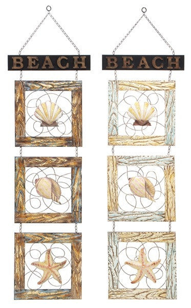 Beach Souveniers Metal Wall Hangings