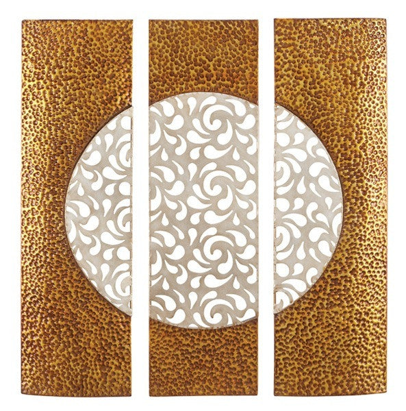 Abstract Sphere Contemporary Metal Wall Art Set of 3