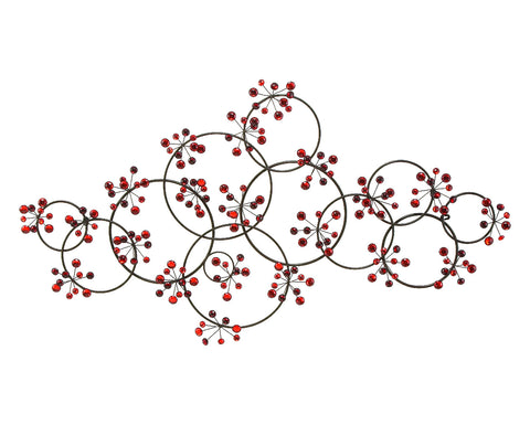 Round the Berry Bush Metal Wall Hanging