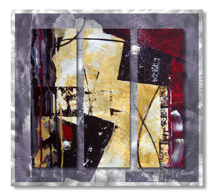 Divine Disruption Abstract Metal Wall Hanging