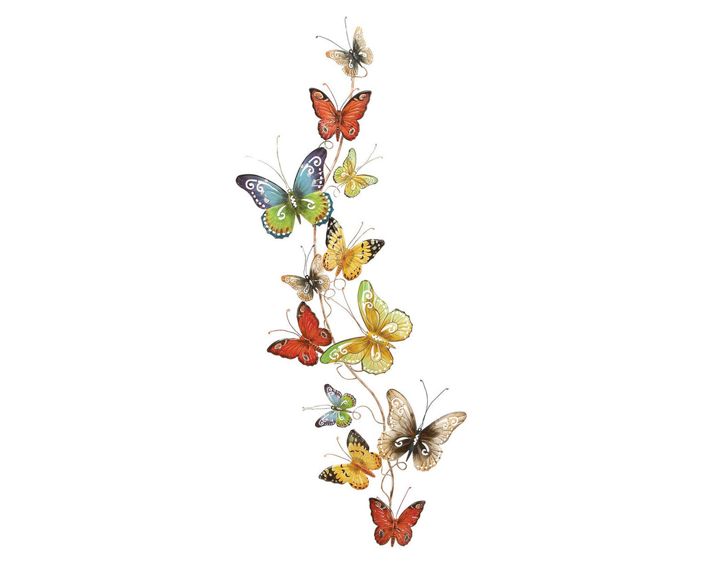 Butterfly Strand Handcrafted Metal Wall Art