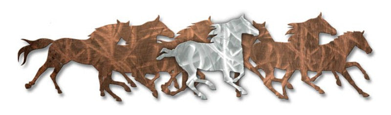 Solitary Silver Horse Metal Art