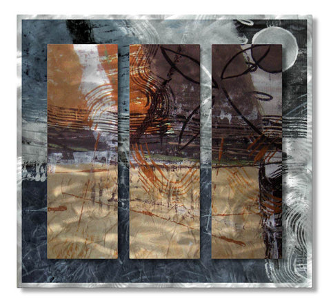 Interrupted Thoughts Abstract Handmade Metal Wall Art