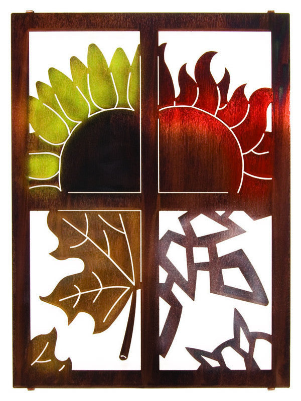 Seasons of Foliage Metal Wall Hanging