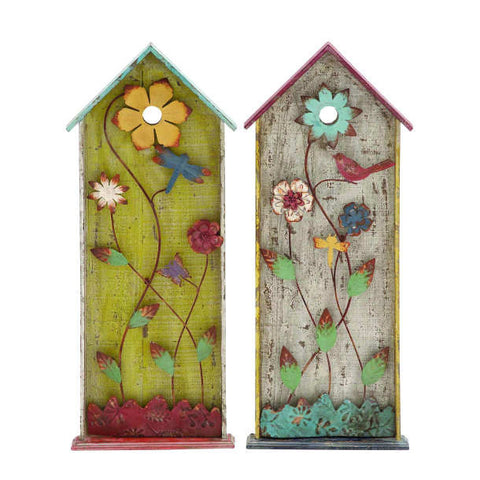 Country Birdhouse Wood Wall Panels