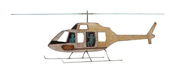 Bravery Helicopter Metal Wall Hanging