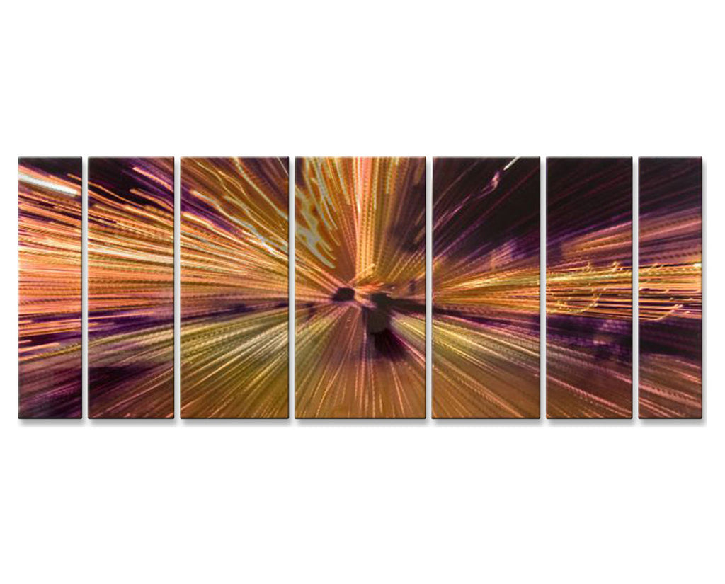 City Lights in Abstract Set of 7