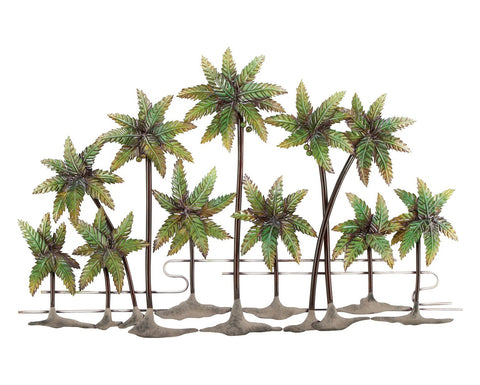 Oasis Palms Metal Wall Decor