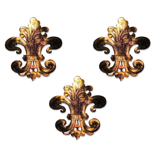 Fleur-de-Lis Fabulosity Metal Wall Art Set of 3