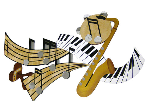 Bring on the band Mirrored Handcrafted Wall Sculpture