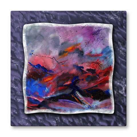Color Storm Textured Metal Wall Hanging