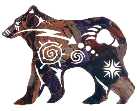 Bear of the Ancients Metal Wall Hanging