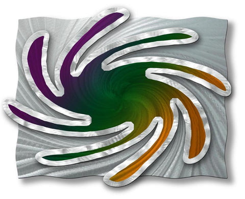 Whimsical Twist Abstract Handmade Wall Sculpture