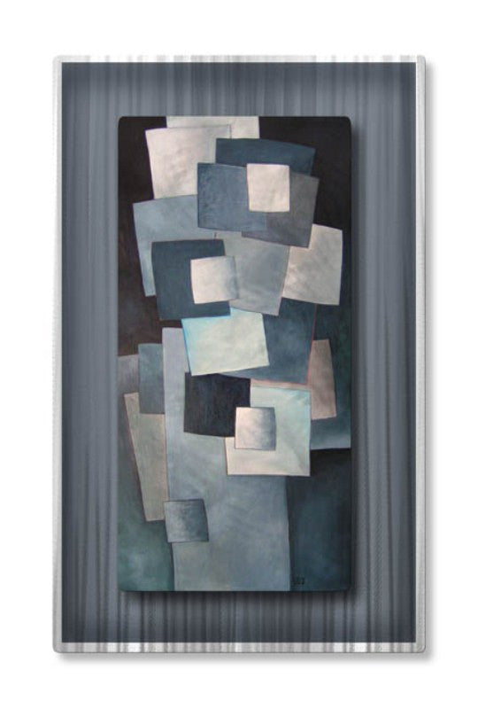 Abstract Briquettes Modern Metal Artwork