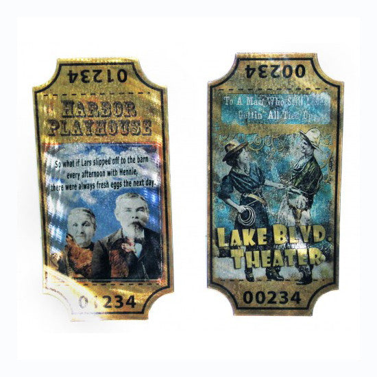 Faux Vintage Theater Tickets Artwork