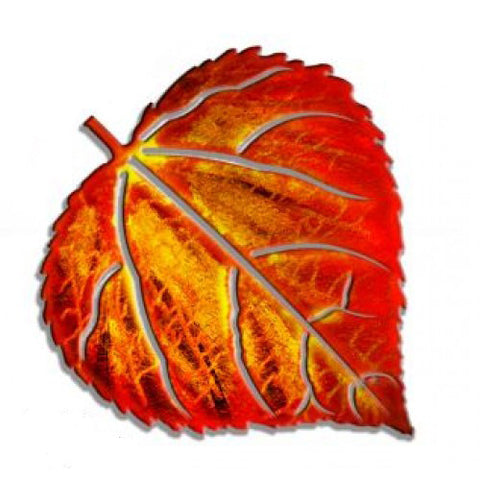 Aspen Leaf Metal Wall Hanging