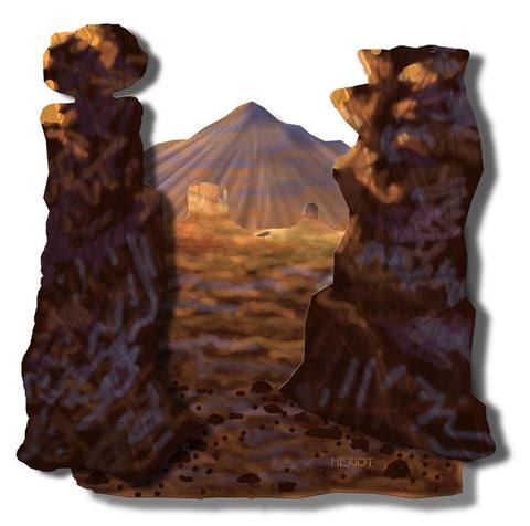 Glimpse of the Desert Canyons Metal Wall Hanging