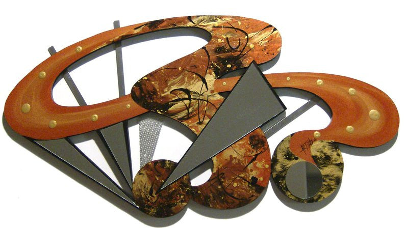 Abstract Showlights Handcrafted Wood Wall Hanging
