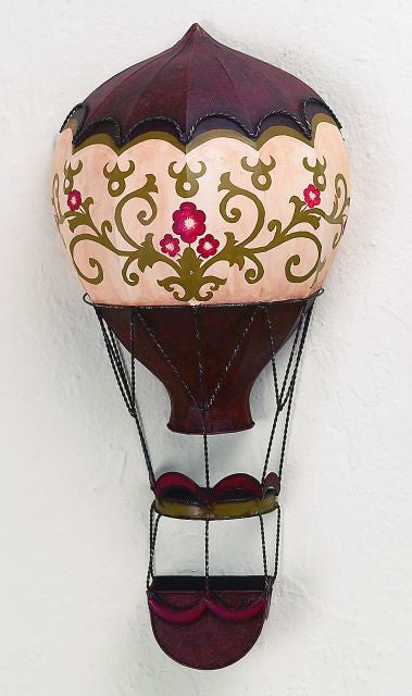 Oriental Hot Air Balloon Metal Wall Sculpture