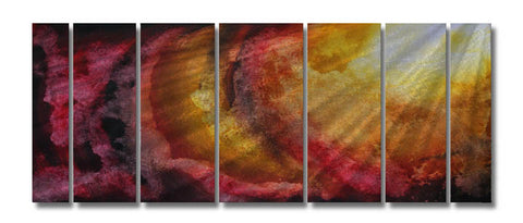 Divinity of Splendor Handcrafted Seven-Panel Metal Wall Art