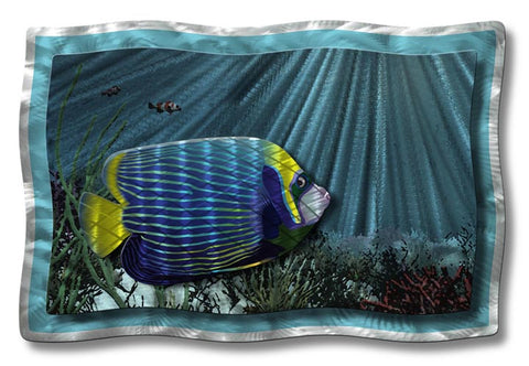 Undersea Tropical Fish Metal Wall Sculpture