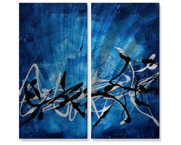 Blue Tranquility Wall Hanging Pair Set of 2