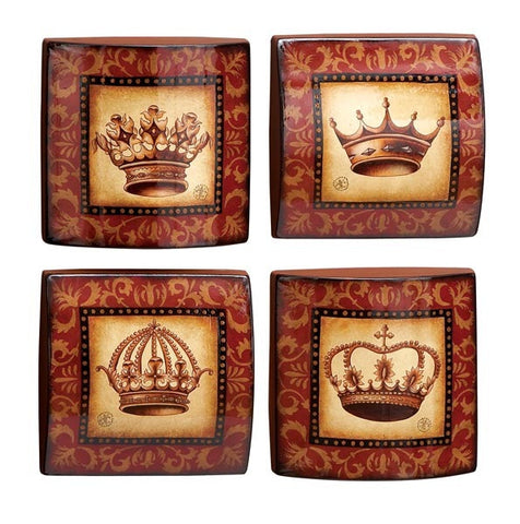 Crowns of Royalty Four-Piece Metal Wall Hanging