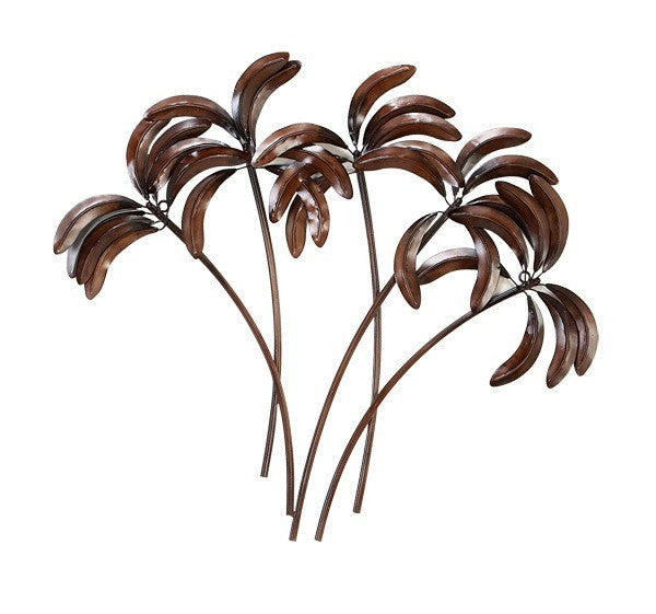 Burnished Palms Metal Wall Decor