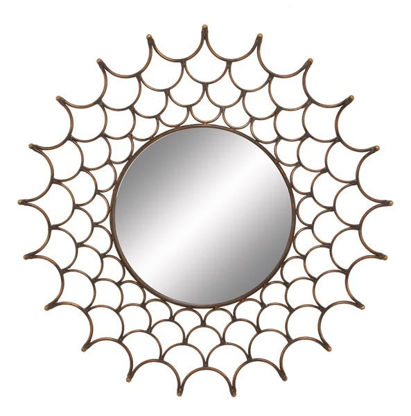 Web of Desire Handcrafted Metal Wall Mirror