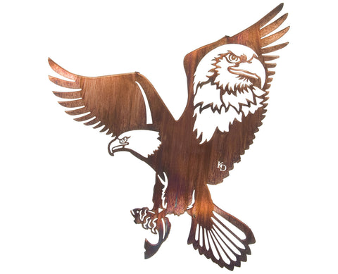 American Bald Eagle Tribute Metal Wall Sculpture