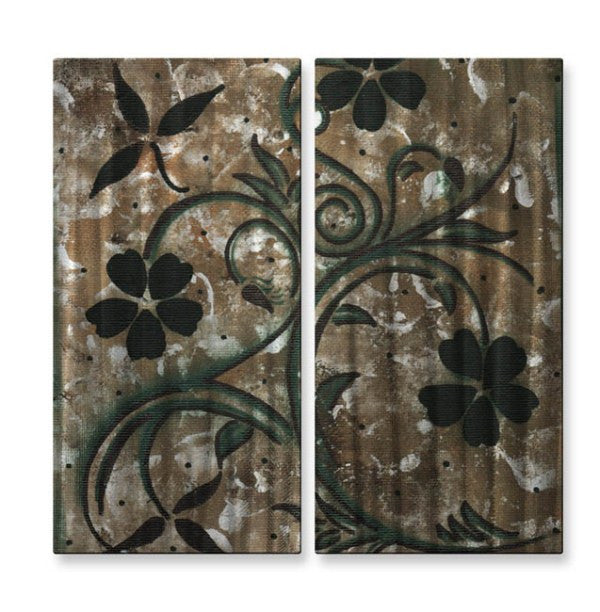 Ebony Elegance Floral Wall Art