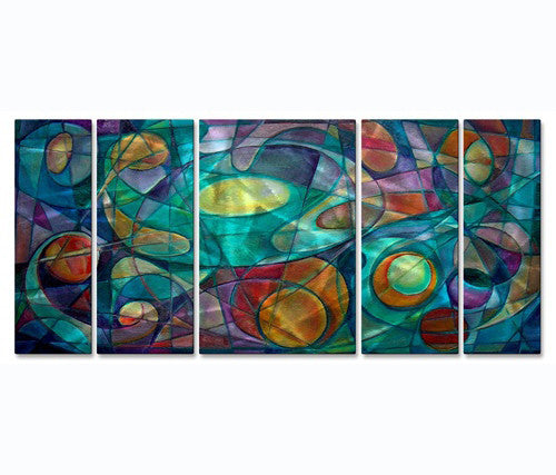 Pastel Planets Metal Wall Art Set of 5