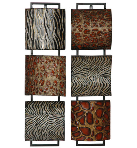 Safari Inspirations Metal Wall Hanging Set of 2